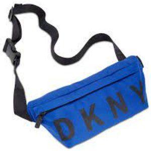 DKNY Nylon Logo Belt Bag, Cobalt Blue, OS